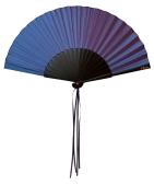 Seidenfächer violett